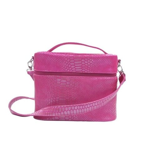 Picnic Gift 7266-PK Mojito Four In One Insulated Cosmetics Bag, Pink Reptilian