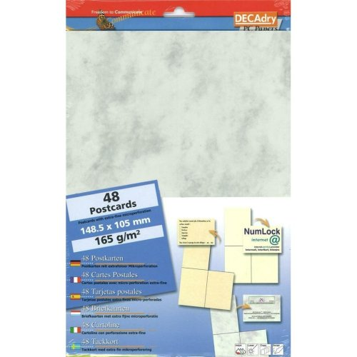 Decadry Postcards. Make your own postcards. 48 Postcards on Marble Card Scb7658
