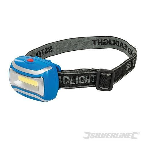 Silverline Cob LED Headlamp 3w - 307918 -  cob led headlamp silverline 307918 3w