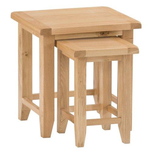 Canterbury Light Oak Nest of 2 Tables