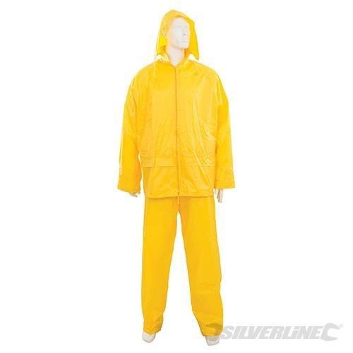 "Silverline Rain Suit Yellow 2pce XXL 79 - 138cm (31 - 54"") - 31 54 273228 142cm -  rain suit silverline 2pce xxl yellow 79 138cm 31 54 273228 142cm 56"