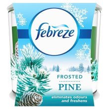 Febreze Frosted Pine Winter Scented Candle Odour Eliminating Air Freshener, 100g