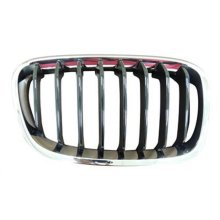 BMW 1 Series 5 Door Hatchback  2011-2015 Front Grille Black Slats With Chrome Surround (Sport Models) Driver Side R