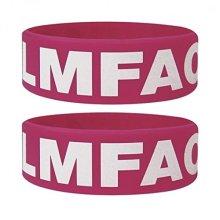 Lmfao Wristband - Rubber 65mm Diameter x 25mm High -  lmfao rubber wristband 65mm diameter x 25mm high