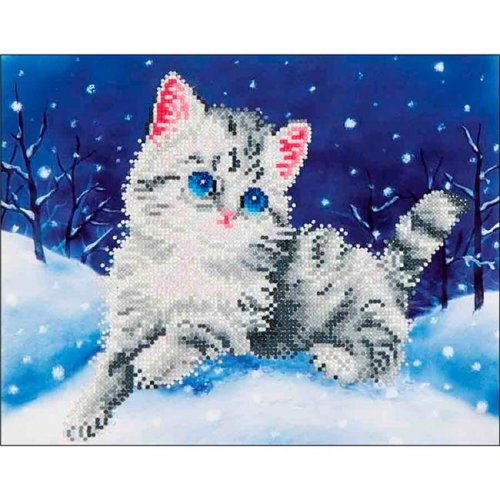 Needleart World DD5006 Kitten in the Snow Embroidery