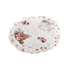 Fashion Round Chair Pads Beautiful Stool Cushions, Flower Design
