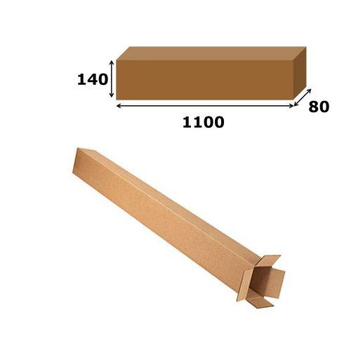 10x Postal Cardboard Box Long Mailing Shipping Carton 1100x140x80mm Brown