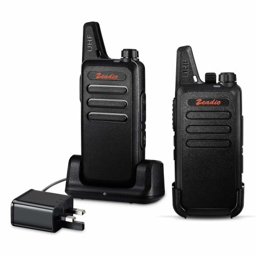 Zeadio PMR446 Ultra-thin Lightweight Walkie Talkies, 16-Channel Long Range License-Free Single Band Slim Two-Way Radio with Belt Clip and...