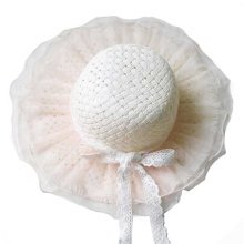 Children Princess  Lace Bowknot Beach Hat Sun Hat Girls Hat,WHITE