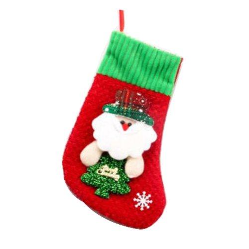 Set of 2 Creative Lovely Christmas Stocking Sock Christmas Gift Bag- Elk Pattern