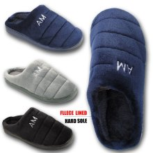 851963a11a0 Mens Puffer Slippers Fleece lined