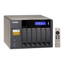 QNAP (TS-653A-4G) 6-Bay QTS-Linux Combo NAS Enclosure (No Drives), iSCSI-SAN, Quad Core CPU, 4GB DDR3, 512MB Flash