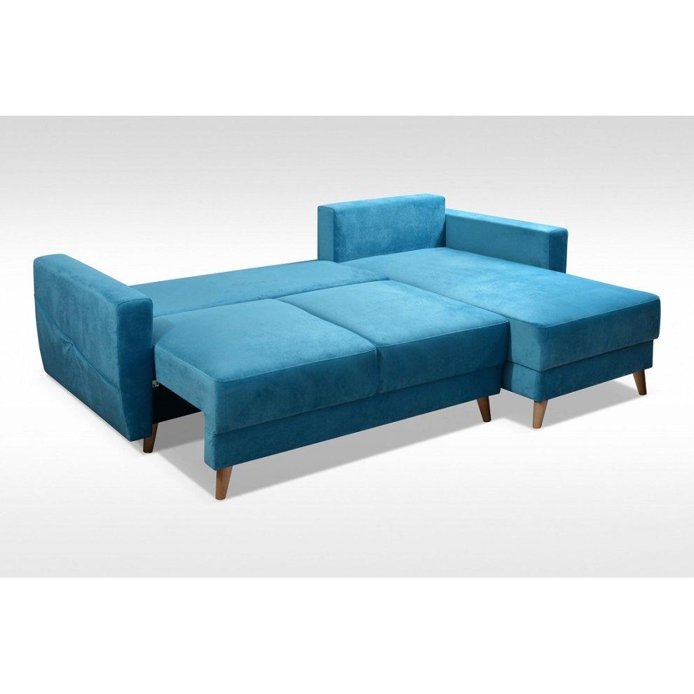 Outstanding Corner Sofa Bed Retro Storage Velveteen Fabric Onthecornerstone Fun Painted Chair Ideas Images Onthecornerstoneorg