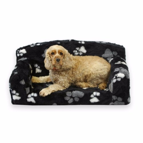 Luxurious Faux Fur Paws Dog Bed Pet Sofa