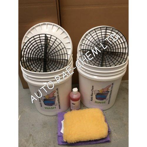 GRIT GUARD & HEAVY DUTY 20L BUCKET - For 2 Bucket Car Wash Method + FREE SHAMPOO