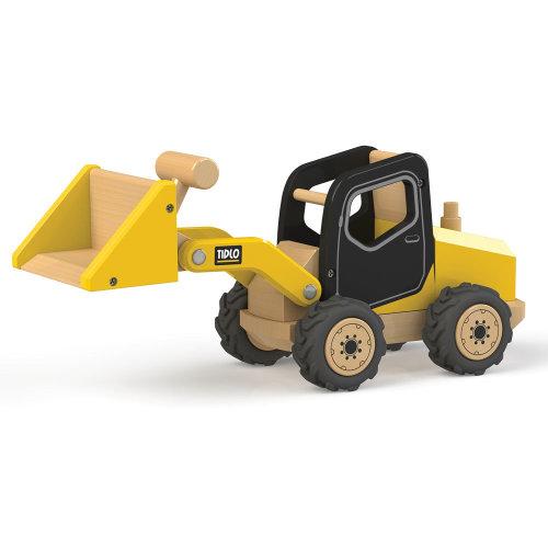 Tidlo Wooden Front End Loader - Construction Vehicles