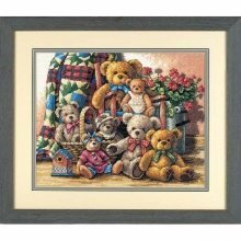 D35115 - Dimensions Counted X Stitch - Gold, Teddy Bear Gathering