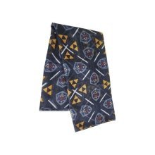 Legend of Zelda All-over Hylian Shield and Triforce Emblem Scarf Multi-colour