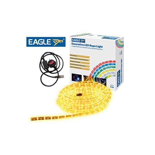 Eagle Static LED Rope Light 6m yellow