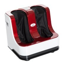 Homcom Portable Vibration Heating Electric Kneading Foot Massager - Red