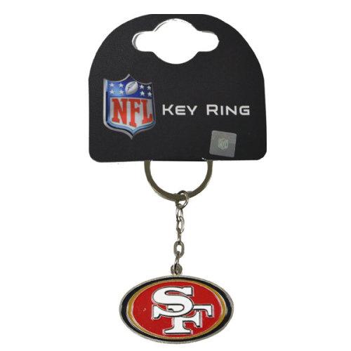 San Francisco 49ers Keyring - Nfl Official Football -  san francisco 49ers keyring nfl official football