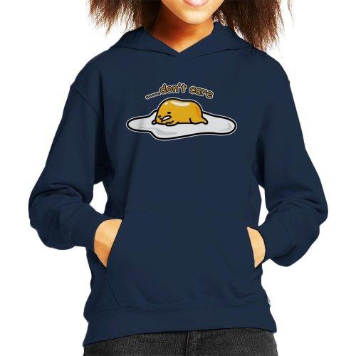 Gudetama Dont Care Kid's Hooded Sweatshirt