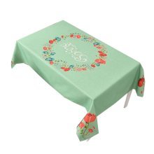 """Cotton Linen Beautiful Tablecloth Tea Table Cover Dust Cover Cloth 33.46""""x33.46"""" (Green)"""