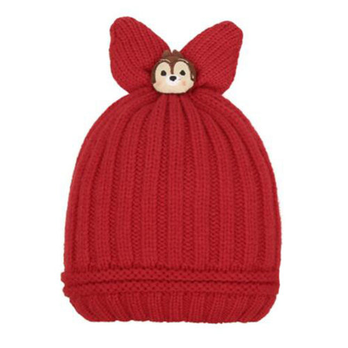 Winter Kid Beanie Hat Warm Children Beanie Cap Baby Hat Warmer, Red