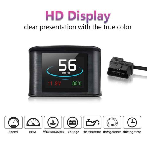 Car OBD2 HUD Head Up Display RPM Water Temperature Speed Fuel Voltage