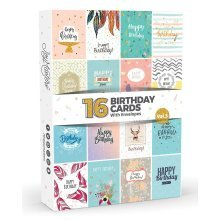 16 x Birthday Cards by Joy Masters™ Vol.3 | Boxed Multipack with White Envelopes