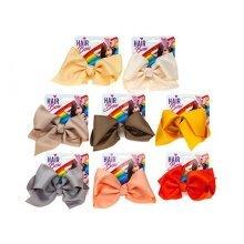 Medium Sizes Fashion Hair Bows - 8 Assorted Colours. -  ribbon bow boutique hair alligator clip girls 5 grosgrain accessory colours new 721034 clips