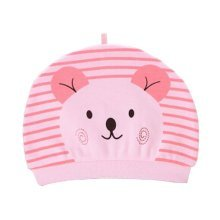 Set of 3 Cute Baby Hats Infant Caps Newborn Baby Cotton Hat Bear Pink