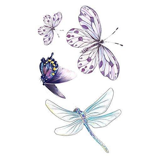 7be17d659 WYUEN 5 Sheets Waterproof Butterfly Temporary Tattoo Dragonfly Fake Tattoo  Sticker For Women Men Hand Body Art 9.8X6cm on OnBuy