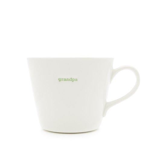 Keith Brymer Jones Word Range 'grandpa' Bucket Mug, 0.35L -White