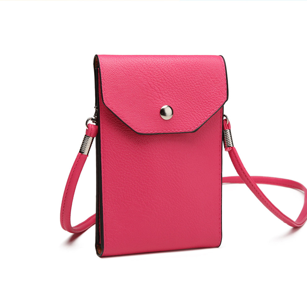 05c86e842723 ... Miss Lulu Women PU Leather Mobile Phone Bag Case Pouch Cross Body Purse  Small Shoulder Bag ...
