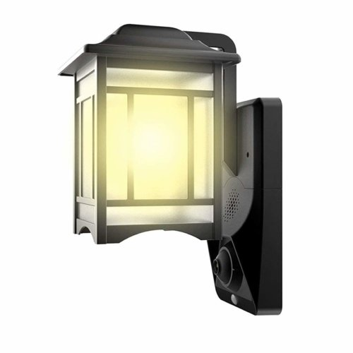 HOMSCAM Motion Sensor LED Security Lights 1080P Outdoor Camera Video Light  Waterproof Wall Lantern Home Security Lighting with PIR Motion Detector