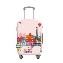 [Paris] Travel Luggage Cover Scratch/Dust Prevent Suitcase Protector