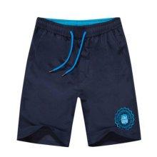 Quick-drying Pants Men Casual Boardshorts Holiday Loose Beach Shorts Travel Blue