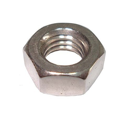 Bulk Hardware BH02528 Steel Hex Nut M4 (5/32 inch) - Bright Zinc Plated, Pack of 100