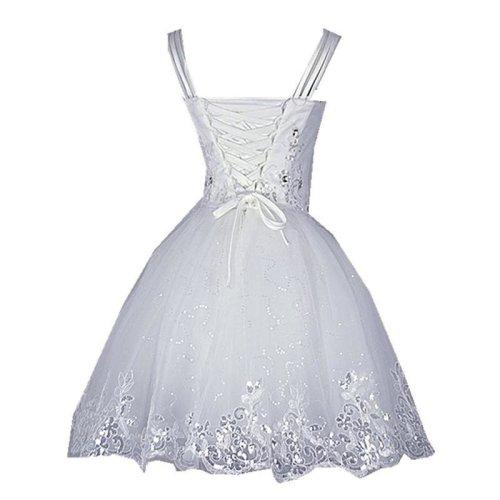Elegant Lace Ball Gown Short Wedding Dress White Bridal Gowns With Appliques Beading  vestido de noiva