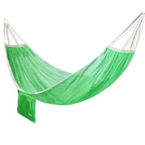Single Person Ice Silk Hammock Outdoor Leisure Hammocks 125*190 CM Green