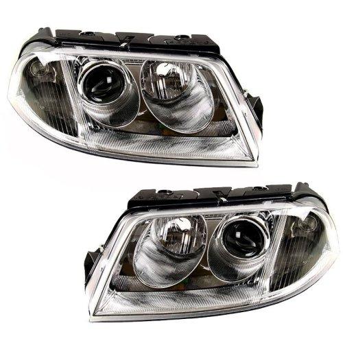 Volkswagen Passat Mk4 2000-2005 Headlights Headlamps 1 Pair O/s & N/s