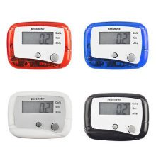 LCD Pedometer Step Walking Jogging Calorie Counter Distance Fitness+ Belt Clip[Red]