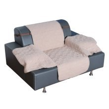 Pawhut Deluxe Quilted Cat Dog Sofa Cover Couch Slipcover Pet Seat Protector Beige