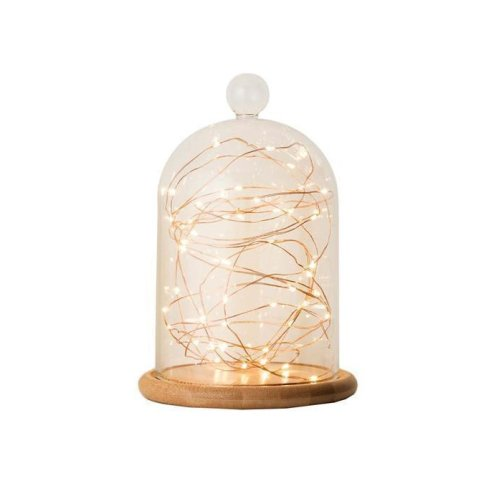 Copper Tone 10 LED Wire Lights - Home Lighting Warm White Choose Size -  home lighting warm white copper tone wire led lights choose size