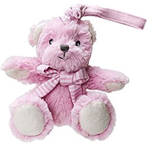 Pink Vibrating Bear Pull Toy