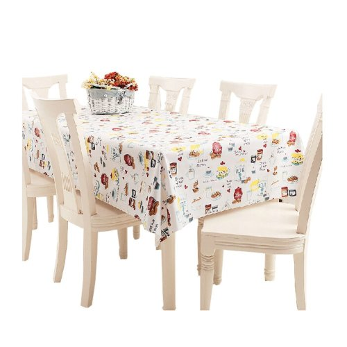 Modern PVC Waterproof Tablecloth Table Mat B (137*220cm)