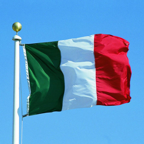 Large Italy National Flag with Rings 90x150cm Hanging Banner for World Cup Euro Championship Sporting Events TRIXES