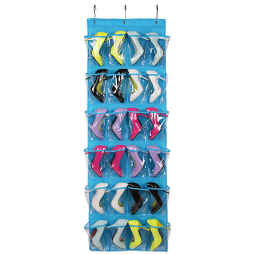 Crystal Collection Over-The-Door Shoe Organizer, Goods Storage, Blue