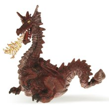 Red Dragon With Flame - Papo Model Toy -  papo red dragon flame model toy